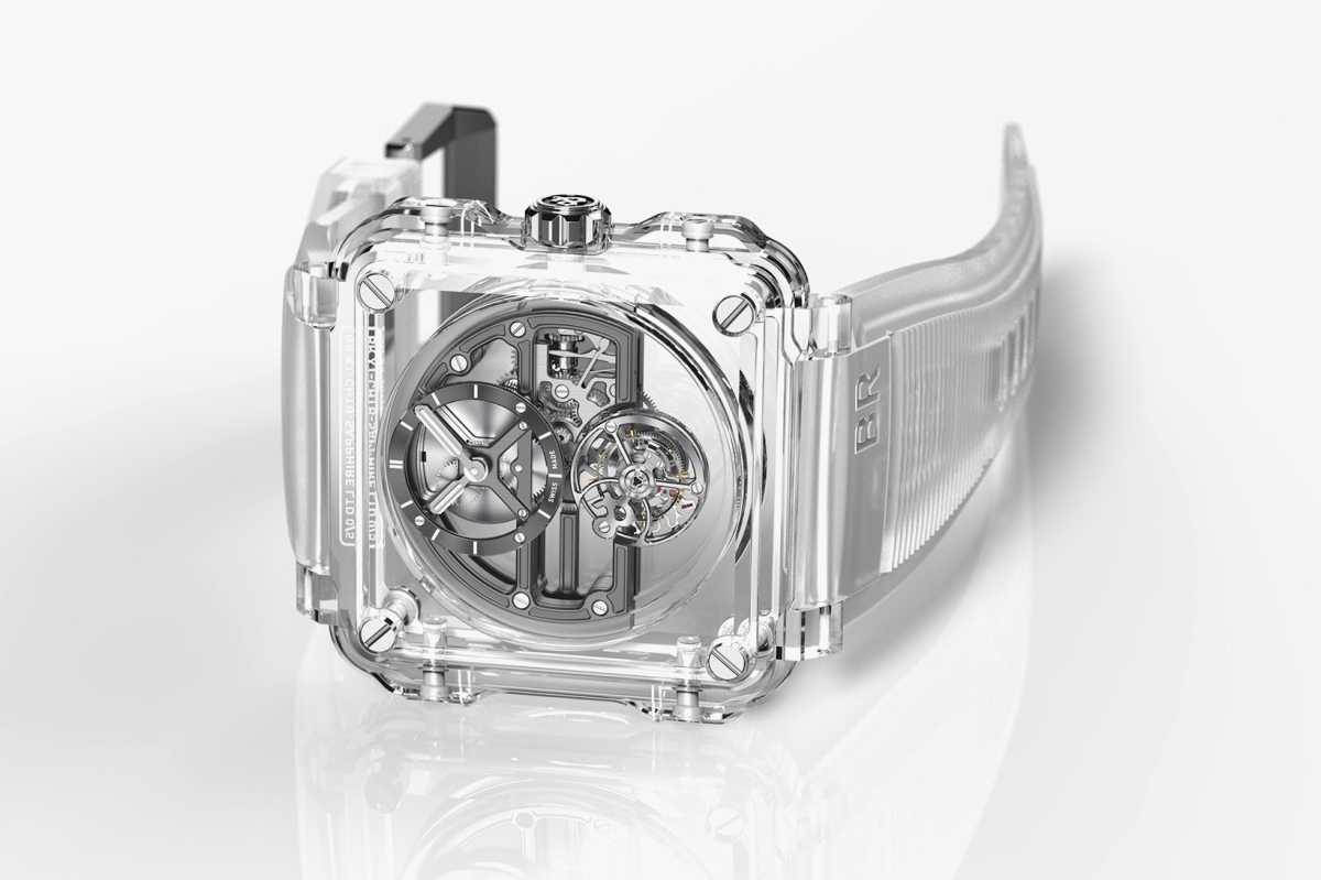Bell & Ross Focuses on Absolute Transparency for the BR-X1 Skeleton Tourbillon Sapphire  #iRockParties