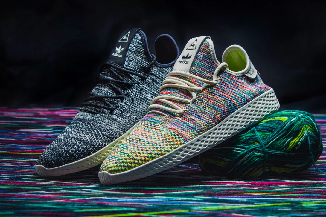 "7df22edf3 Pharrell Williams x adidas Originals Tennis Hu ""Multicolor"" On Feet ..."